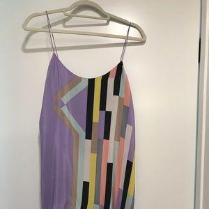 Tibi multi colored slip dress